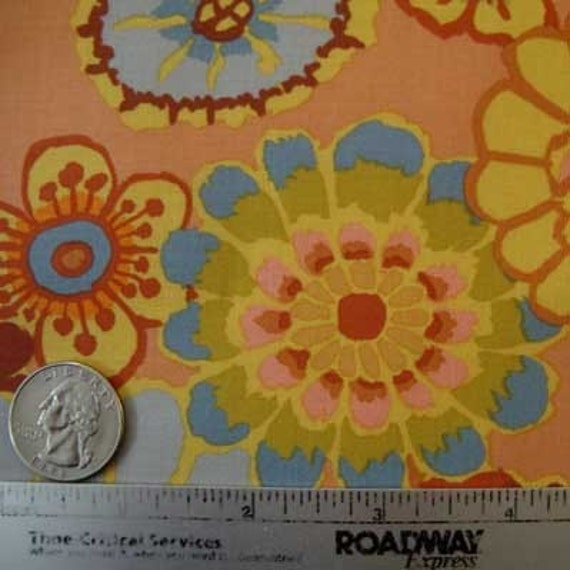 Kaffe Fassett ASIAN CIRCLES Orange Gold Gp89 Fabric - by the Yard - Rare and Out of Print