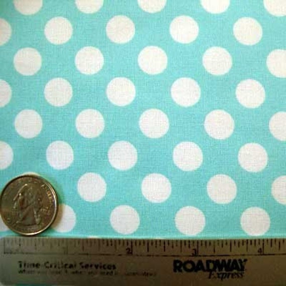 Michael Miller TA DOT OCEAN Aqua Polka Dot Quilt Fabric by the Yard, Half Yard, or Fat Quarter Fq