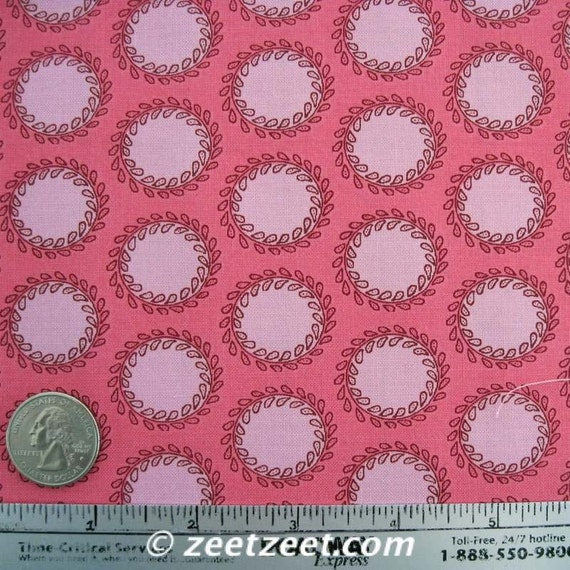 LAUREL DOTS Cherry Pink - Amy Butler Soul Blossoms Fabric - 1 Yard