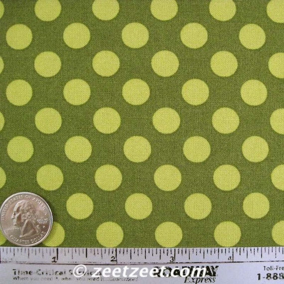 TA DOT Moss - Quilt Fabric by the Yard - Michael Miller Polka Dot Olive Green