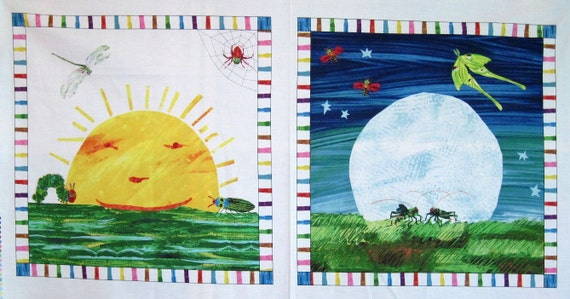 Eric Carle & quot; The Very Hungry Caterpillar & quot; DAY / NIGHT Quilt PANEL by zeetzeet