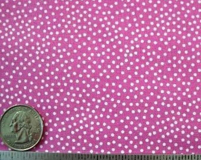 "Michael Miller PINDOT ORCHID White Cotton Quilt Fabric - Precut Remnant Last Piece - 24"" Long by 45"" Wide"