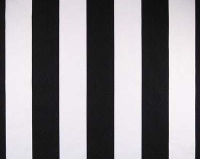"Michael Miller TWO by TWO STRIPE Black & White Cotton Quilt Fabric by the Yard or Half Yard - 2"" Stripes"