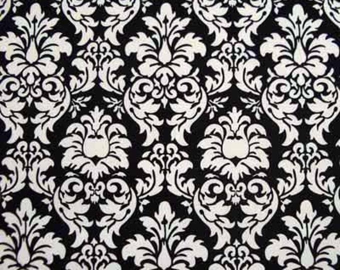 Michael Miller DANDY DAMASK Black & White Cotton Quilt Fabric Remnants and Fat Quarter Fq