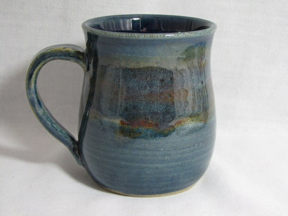 BEAUTIFUL BLUE Stoneware Pottery Mug
