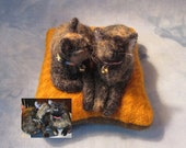 DEPOSIT for TWO KITTY Custom Pincushion from photos (12911)