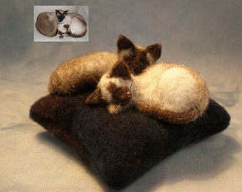 DEPOSIT for TWO KITTY Custom Cat Cushion Sculpture from photos (42616)