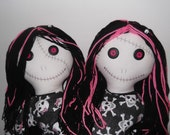 HUGE Two Headed Zombie Doll    FREE Shipping