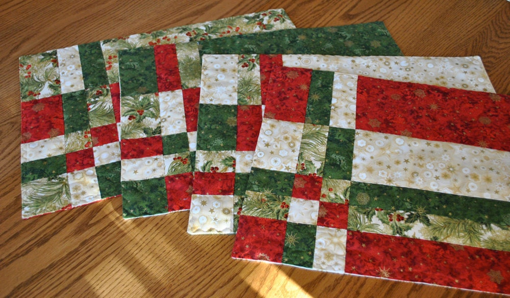 Festive Christmas Placemats Set of Four