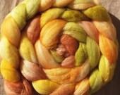Hand Dyed Roving - No. 25 'Georgia on my Mind' superwash merino roving