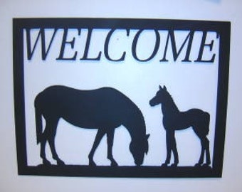 Horse and  Colt Welcoms Sign SALE