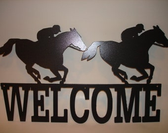 Horse Racing Welcome Sign