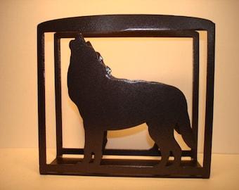 Wolf Napkin/Letter Holder