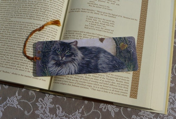Cat Bookmarks - Bookmarker - Bookmarking - Celtic Bookmarks - Bookmarks for Books - Book Mark - Reading Bookmark - Book Mark Bookmark
