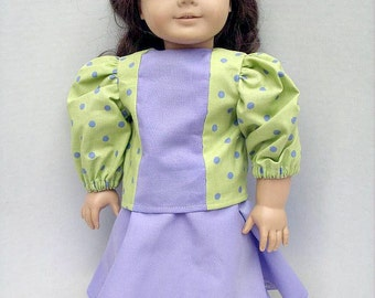 Lime Green and Lavender Skirt Top Capris for 18 Inch Fashion Doll