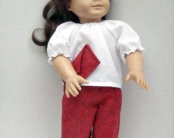 18 Inch Fashion Doll Clothes Fashion Wardrobe in Red
