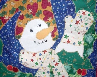 Christmas Snowman Wall Hanging on Clearance