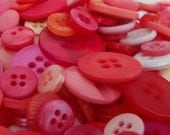50 Multi Sizes Round Buttons Watermelon