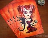 Fallen Angel Halloween Postcard Postcrossing