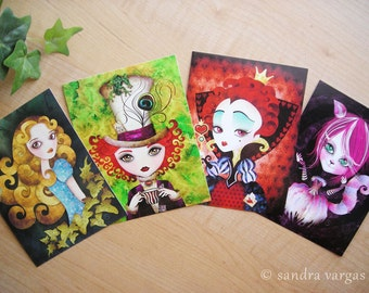 Alice in Wonderland Postcard Set of 8 Postcrossing
