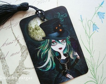 Raven's Moon Victorian Gothic Bookmark with Tassel