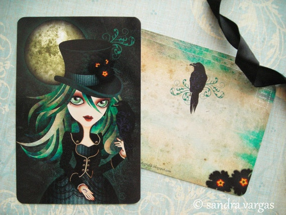 Raven's Moon 4 x 6 Postcard Postcrossing