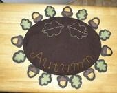 Fall penny table mat