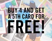 Buy 4 Cards and Get 1 Free