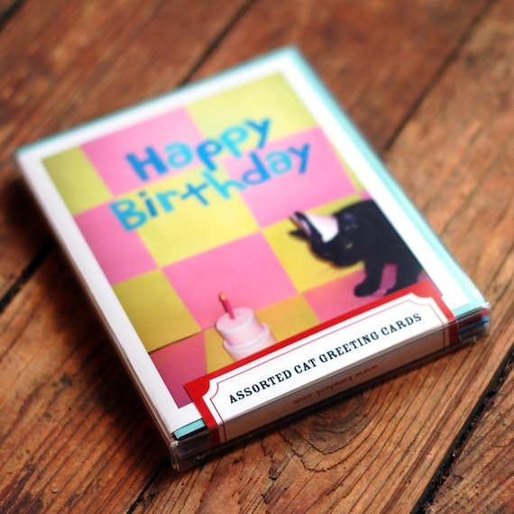 cat greeting card box