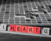 I HEART U 8x12