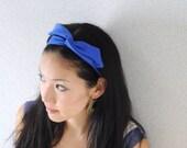 Blue Bow Headband