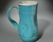 Tall Turquoise Smoosh Mug