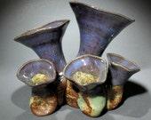 Springtime 5 Green Smoosh-Pot Vase