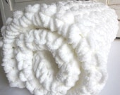 Plush super-soft crocheted baby blanket - MARSHMALLOW