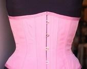 Pink Corset bubblegum pink  Underbust  Corset Waist Cincher Circus Burlesque Tightlacing PICK YOUR SIZE