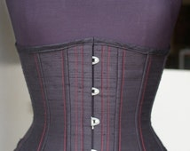 CUSTOM TG Transwoman Underbust pick your size Corset Waist Training Crossdresser Burlesque Steampunk Steel Boned Silk