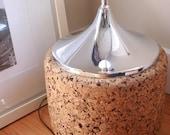 Vintage chrome and cork lamp