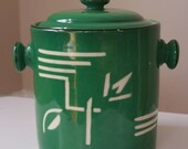 Reserved for Casey…..Vintage Czech deco cookie jar by Celebrate