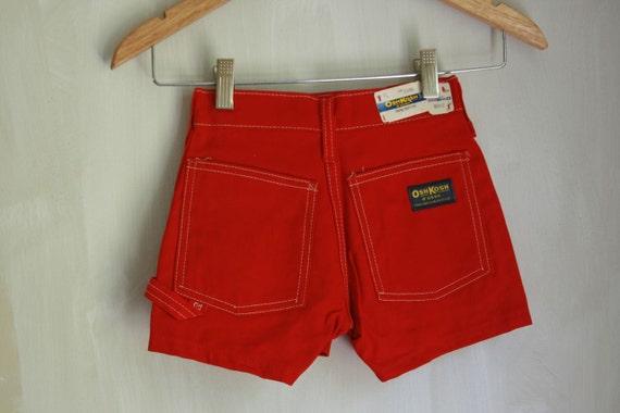 New old stock Vintage red Osh Kosh shorts 7 slim