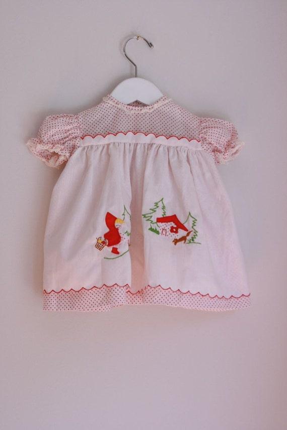 Vintage Nannette Little Red Riding Hood dress 9 months