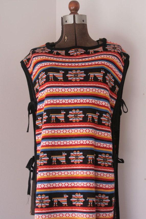 Vintage funky boho vest size medium