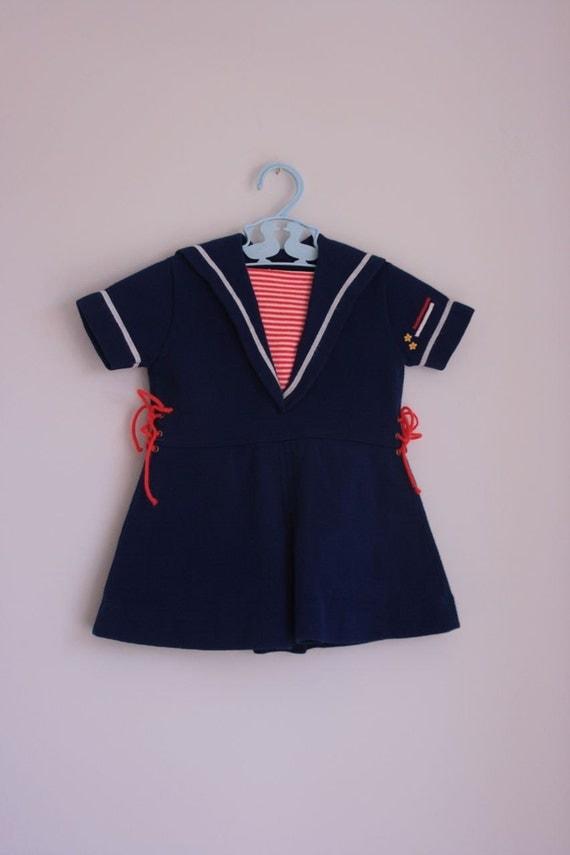 Vintage sailor dress 2/3t