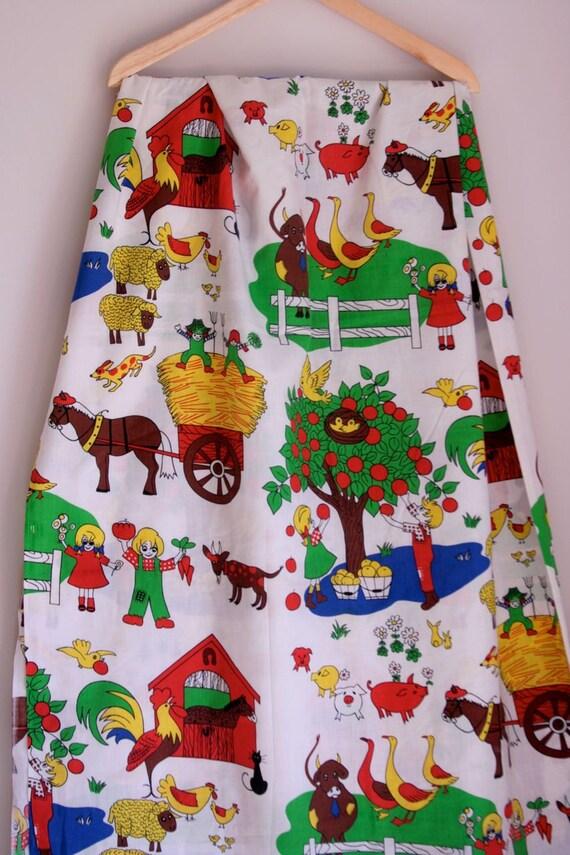 Vintage Farm fabric/coverlet