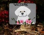 Bichon Puppy, Dog Garden Welcome Slate