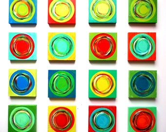 Colorful Wall Art | Modern Wall Decor | Geometric Art | Wood Wall Sculpture | Modern Art | Rosemary Pierce Modern Art