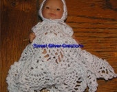 Crochet Pattern 5.5 inch Berenguer - Pineapple Christening Gown