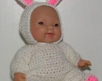 Crochet Pattern 5.5 inch Berenguer - Bunny