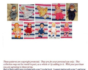 Crochet Pattern - 2.5 inch Krissy doll set 1