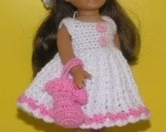 American Girl Mini Crochet Pattern - Sun dress