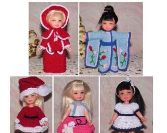 Crochet pattern set for 6 inch Kelly set 01